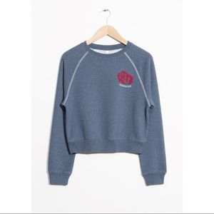 & Other Stories Heartaches Embroidery Sweatshirt